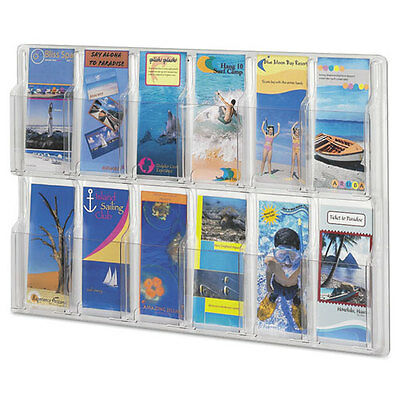 Safco Reveal Clear Literature Displays, 12 Compartments, 30 w x 2d x 20 1/4h...