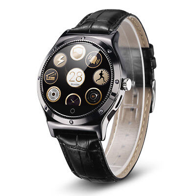 Touch Bluetooth Smart Watch Pedometer Heart Rate Monitor for Samsung iPhone NEW
