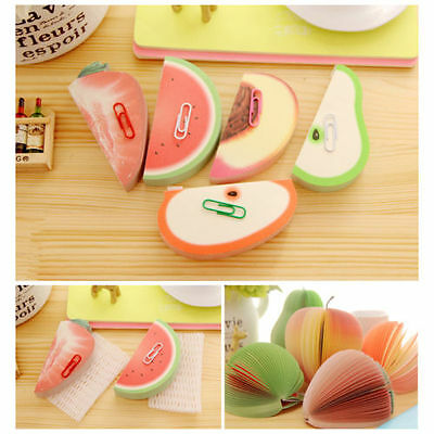 Fruit Shaped Notepad Memo STATIONARY NOTES Cute Gift Pad Scratchpad Papers o3