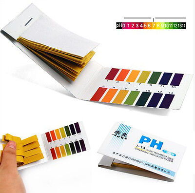 2x 80pcs PH1-14 Full Range Litmus Test Paper Strips Tester Indicator Urine SP