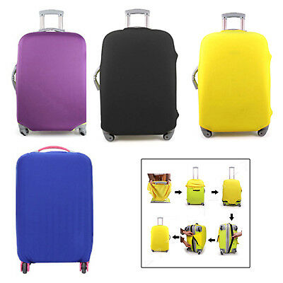 Cabin Hand Luggage Suitcase Cover Candy Color 4 Wheeled Travel Case Bag S M L