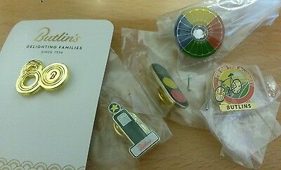 Bundle of 5 Rare Butlins Pin Badges collectable staff Issue