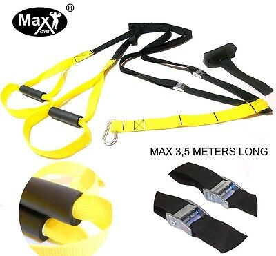 Max Gym® Crossfit training. Body Trainer Suspension. Fitness Resistance Straps