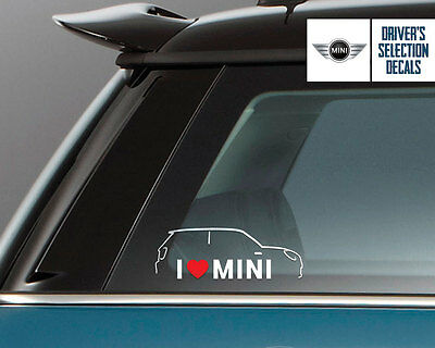 I Love Mini Cooper S window sticker decals graphic