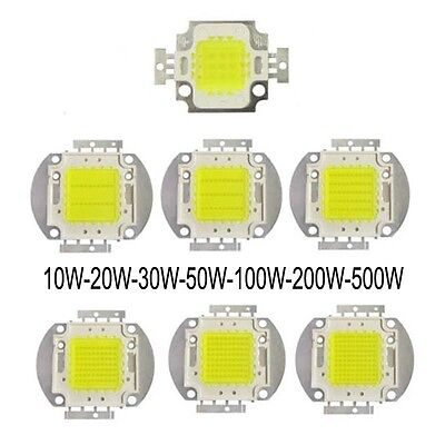 1pc 10W/20W/30W/50W/100W/500W Cool White 8000K-12000K LED Diode high power light
