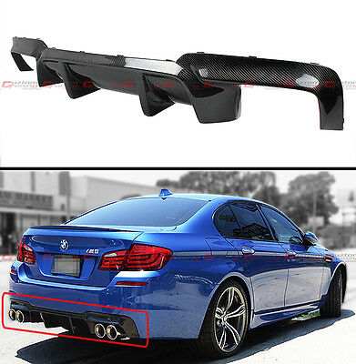 For 2012-2016 BMW F10 M5 Carbon Fiber Rear Bumper Diffuser Replacement-DMT Style