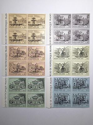 Vatican 1975 6 Blocks Unmounted Mint Stamps SG633-8 Full SC573-8 Rome Fountains