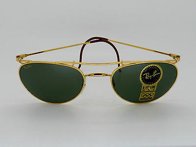 RayBan B&L W1532 Deco Metals New with Box/Case 55[]20 Mint NOS