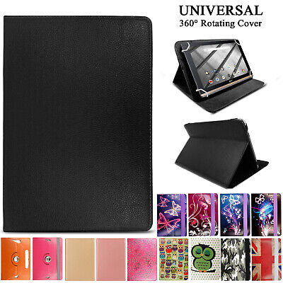 """For 7"""" 8"""" 10"""" Lenovo Tab 2/3/4 Tablet - Folio Leather Rotating Stand Cover Case"""