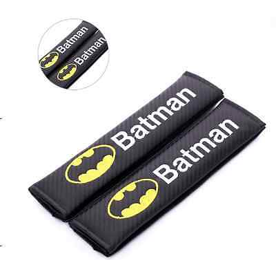 Batman Carbon Fiber Seat Belt covers x 2