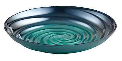 New Perla Bowl 32cm Teal Blue Glass Decorative Bowl Made in Turkey