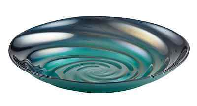 New Perla Bowl 22cm Teal Blue Glass Decorative Bowl Made in Turkey