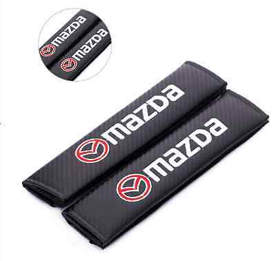 Mazda Carbon Fiber Seat Belt covers x 2