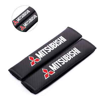 Mitsubishi Carbon Fiber Seat Belt covers x 2