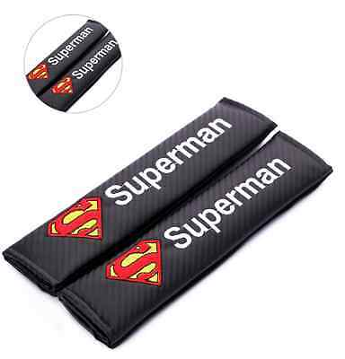 Superman Carbon Fiber Seat Belt covers x 2