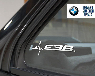 BMW E38 is in my Blood window sticker decals graphic