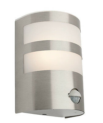 Mercator Richie 10w LED Outdoor Sensor Wall Light 316 Stainless Steel Coach