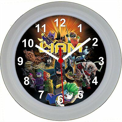 Personalised LEGO BATMAN MOVIE WALL CLOCK