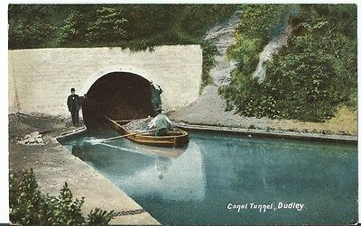 Dudley Barge coming out of the Canal Tunnel PPC Tucks Photochrome #4438 1905