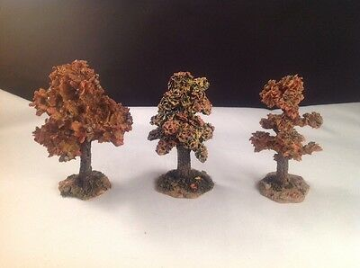 Boyds Bearly-Built Villages~AUTUMN ARBORETUM  COLLECTION~3 Fall Color Town Trees