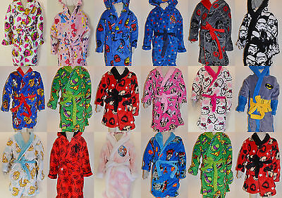 Boy Girl Frozen Pony Paw Patrol Turtle winter fleece dressing gown Size 1-16
