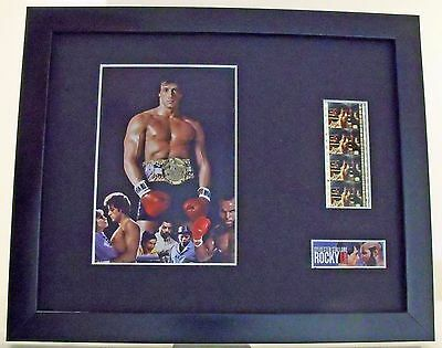 Rocky III Sylvester Stallone Carl Weathers Mr T framed 35mm film cells