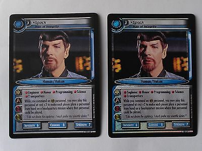 Star Trek ccg M/NM In a mirror darkly IAMD Spock, Man of Integrity Foil/No Foil