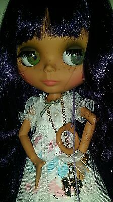 Ooak Customised Blythe doll, outfit and more. Jointed Purple hair UK SELLER