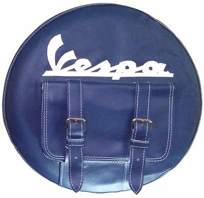 Vespa Spare Wheel Cover Spanish Flag Hand Made Leather More Colours
