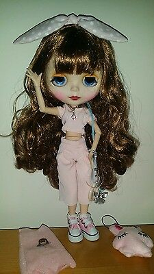 Ooak Customised Blythe doll, outfit and more. Jointed. Aurburn hair UK SELLER