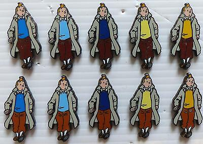 Pin´s Serie Complete De 10 Petits Pins Tintin