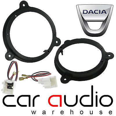 "Dacia Sandero 2008-14 6.5"" Front Door Car Speaker Adaptor Rings Brackets & Wires"