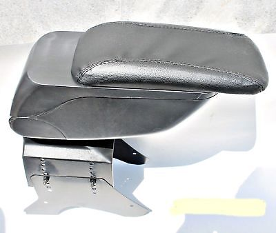 Black Eco Leather Padded Armrest Center Fit For Vauxhall Opel Astra  2005 New...