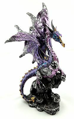 Dragon holding Skull Statue Figurine Ornament Sculpture Home Garden Décor 21 cm