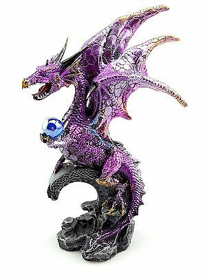 Dragon holding Ball Statue Figurine Ornament Sculpture Home Garden Décor *20 cm*