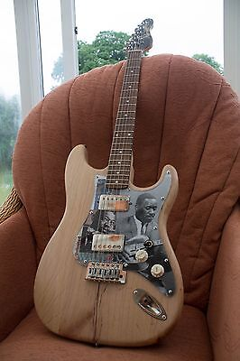 Stripped and distressed strat type guitar