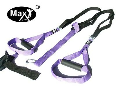MaxGym® trainer. Body Trainer. Suspension Straps. Home Fitness purple