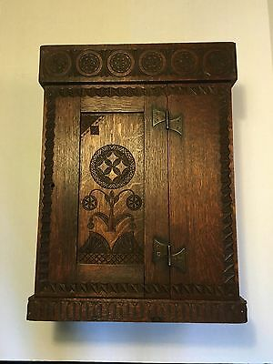 Antique Wood Carved Dutch Hanging Box