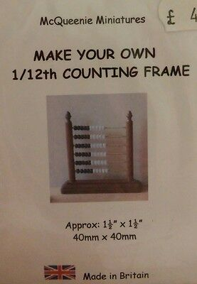 1/12th Scale Abacus / Counting Frame Kit, Nursery etc from McQueenie Miniatures.