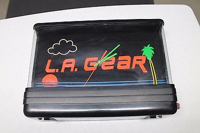 L.A. Gear Advertising  Vintage Neon Clock / Sign with Black Light