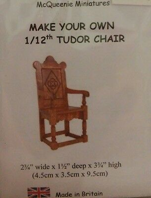 1/12th Scale Tudor Chair Kit from McQueenie Miniatures.