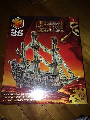 "PUZZ 3D Pirates of the Caribbean: At World's End ""The Flying Dutchman"" Ship NEW"