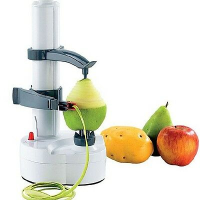 New Automatic Electric Fruit Apple Pear Potato Peeler Cutter Slicer Kitchen