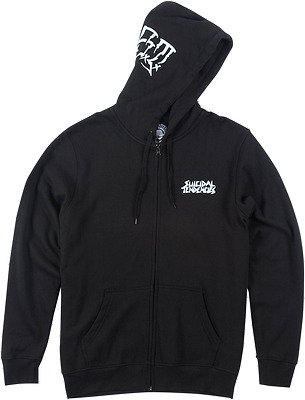 METAL MULISHA Mens Adult Smash Zip Up Hoodie Hoody Black Md