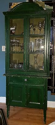 * SUPERB * Vintage Hutch - Great Green Patina and Solid Wood - PRICED TO SELL