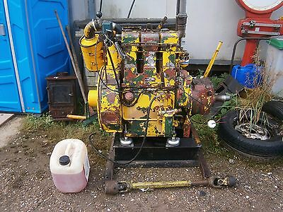 Lister 3 cylinder engine with clutch and drive unit
