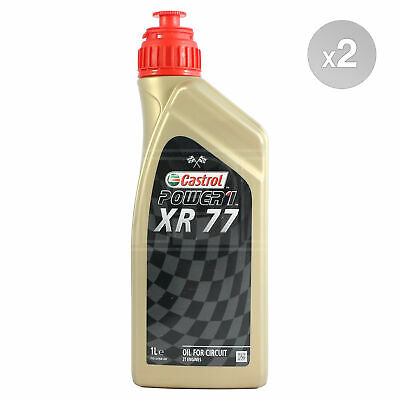 Castrol XR-77 Fully Syn Pre-Mix Motorcycle Racing 2 Stroke Oil 2T 2 x 1 Litre 2L