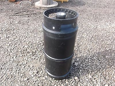 Beer Keg Black Plastic Small 5 Gallon Used Some Beer Residue Left in Them