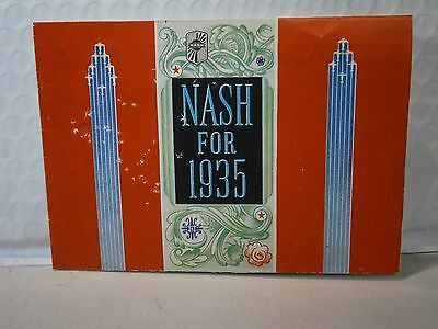 Nash Automobile Vintage 1935 Dealer Brochure Collectible Dealers Sales Car Ad