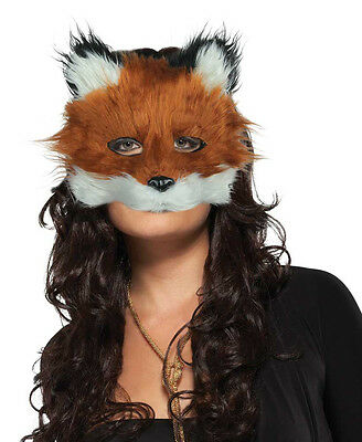 Mens Ladies Mr Fox Mask Fancy Dress Costume Furry Face Masque New